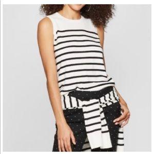 A NEW DAY  Striped Sleeveless Crewneck SweaterTank